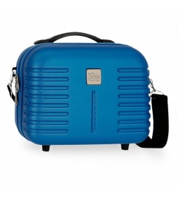 Neceser ABS Roll Road India Adaptable azul  -29x21x15cm-