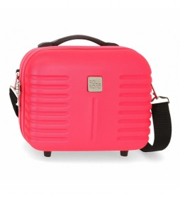 Neceser ABS Roll Road India Adaptable fucsia -29x21x15cm-