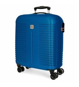 Maleta de Cabina Roll Road India Expandible azul -40x55x20cm-