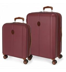 Juego de maletas El Potro Ocuri Burdeos -40x55x20cm/49x70x28cm-