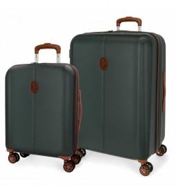 Juego de maletas El Potro Ocuri verde -40x55x20cm/49x70x28cm-