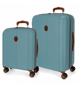 Juego de maletas El Potro Ocuri Azul -40x55x20cm/49x70 x28 cm-