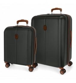 Juego de maletas El Potro Ocuri Gris  -40x55x20cm/49x70 x28 cm-