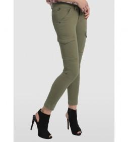 Pantalones Multibolsillos Multi Bloog verde kaki
