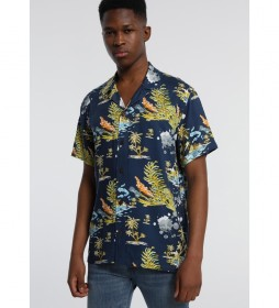 Camisa Oceano Jungle Kenn Kass azul