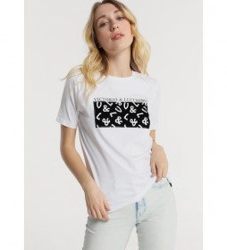 Camiseta M/C Gráfica V&L blanco