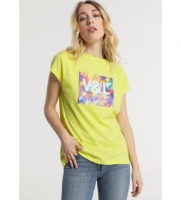Camiseta Print Chica amarillo