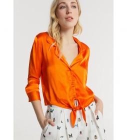 Camisa M/L Nudo  naranja