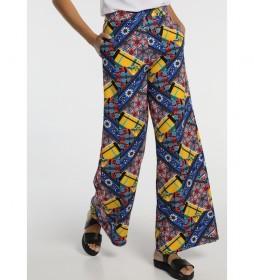 Pantalones Palazzo multicolor