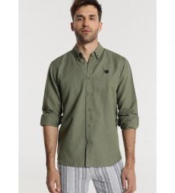 Camisa Lino M/L verde
