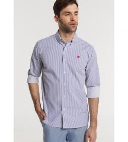 Camisa M/L Mini Topos azul