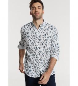 Camisa Estampada de Flores blanco