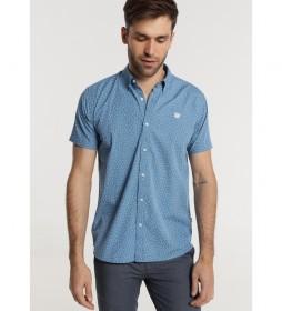 Camisa M/C Mini Print azul