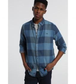 Camisa de cuadros Ollie-Heldo azul