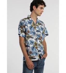 Camisa Hojas-Ona-Giona azul