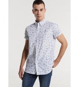 Camisa  Popelin Ocean Print blanco