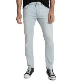 Jeans Denim 5 Bolsillos azul