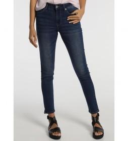 Jeans Slim Cintura Alta azul