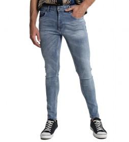 Jeans Denim Blue Skinny azul