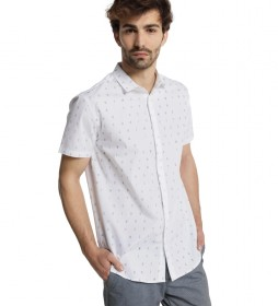 Camisa M/C Logomania blanco