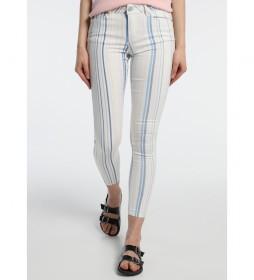Pantalones a Rayas -Coty Tob-Kirbi blanco roto, multicolor