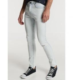 Jeans Rotos Extra Bleach azul claro
