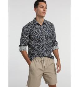Camisa Estampada Bitel-Blu marino