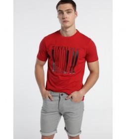 Camiseta Barcode rojo