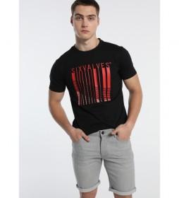 Camiseta Barcode negro