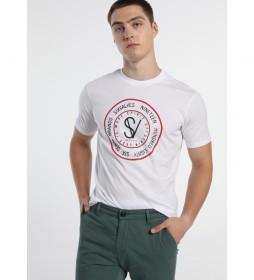 Camiseta sello logo blanco