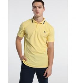 Polo Pique con Logo amarillo