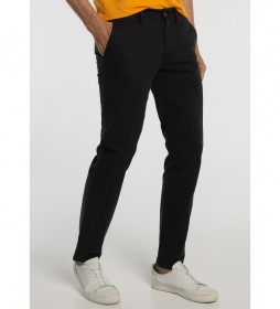 Pantalón Chino Slim Satén negro