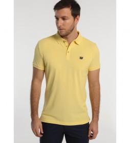 Polo Básico Pique Logo Bordado amarillo