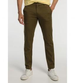 Pantalón Chino Elástico verde