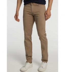 Pantalón Tejanero Estructura Colores marrón