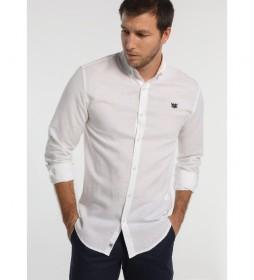 Camisa de Lino Manga Larga blanca