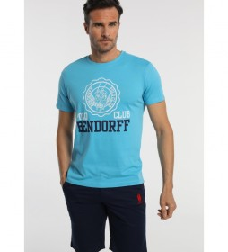 Camiseta Polo Club azul