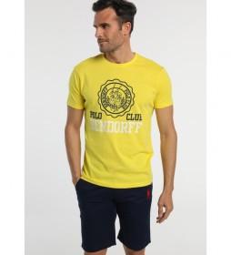 Camiseta Polo Club amarillo