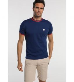 Camiseta Elasticos Jacquard azul
