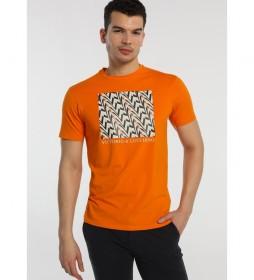 Camiseta Gráfica Étnico naranja