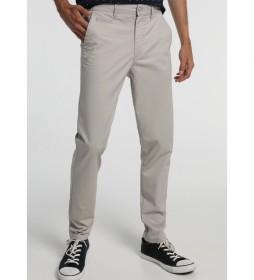 Pantalones Pitillo Chino-Scultur King gris
