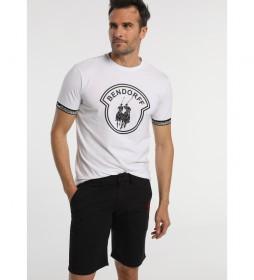 Camiseta Logo Elasticos Jacquard blanco