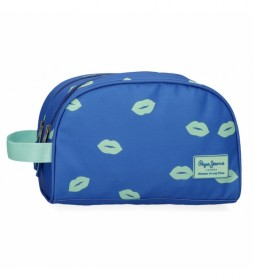 Neceser Pepe Jeans Ruth Doble Compartimento Adaptable -26x16x12cm-