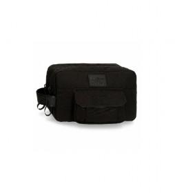 Neceser Doble Compartimento Adaptable Pepe Jeans Denton Negro -26x16x12cm-