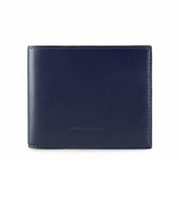 Cartera de piel PU3891BOR azul -11x9x1cm-