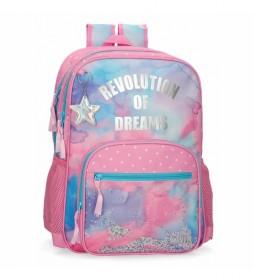 Mochila Revolution Dreams Doble Compartimento multicolor -32x46x17cm-