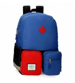 Mochila Escolar Pepe Jeans Dany Adaptable Azul -32x44x15cm-