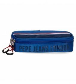 Estuche Pepe Jeans Overlap con Organizador -22x5x9cm-