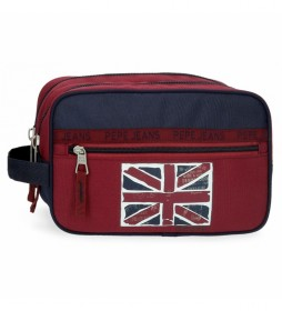 Neceser Pepe Jeans Andy Doble Compartimento Adaptable -24x15x10cm-