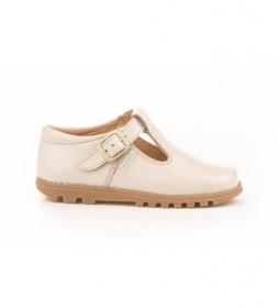 Zapatos de piel 670 beige